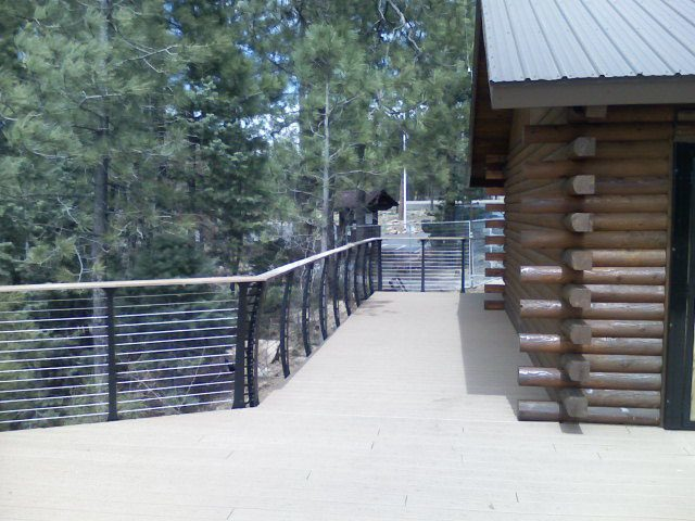 Expansive view through park railing