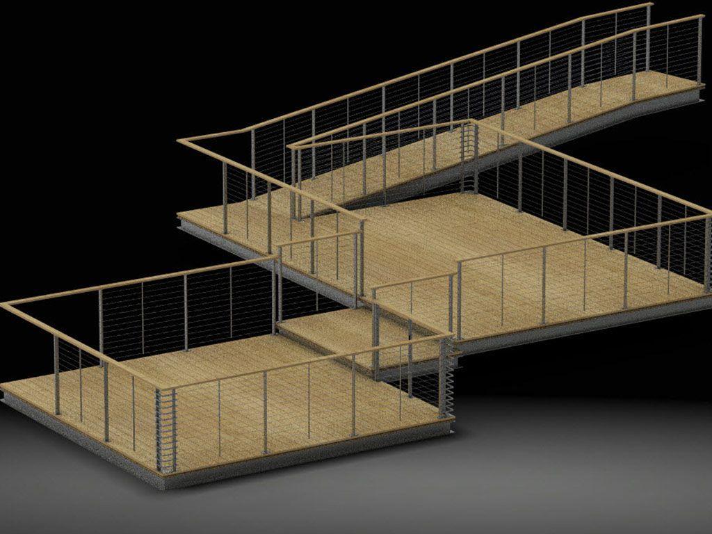 Raised Platform Deck Galvanized Ibeams