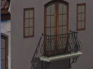Rendering of balcony