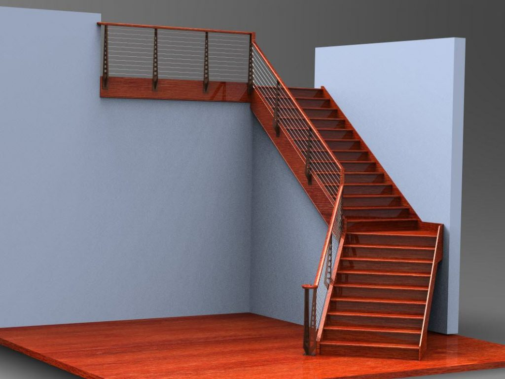 Rendering of Cherry Staircase