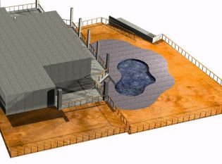 Rendering of Clearwater Florida deck railings