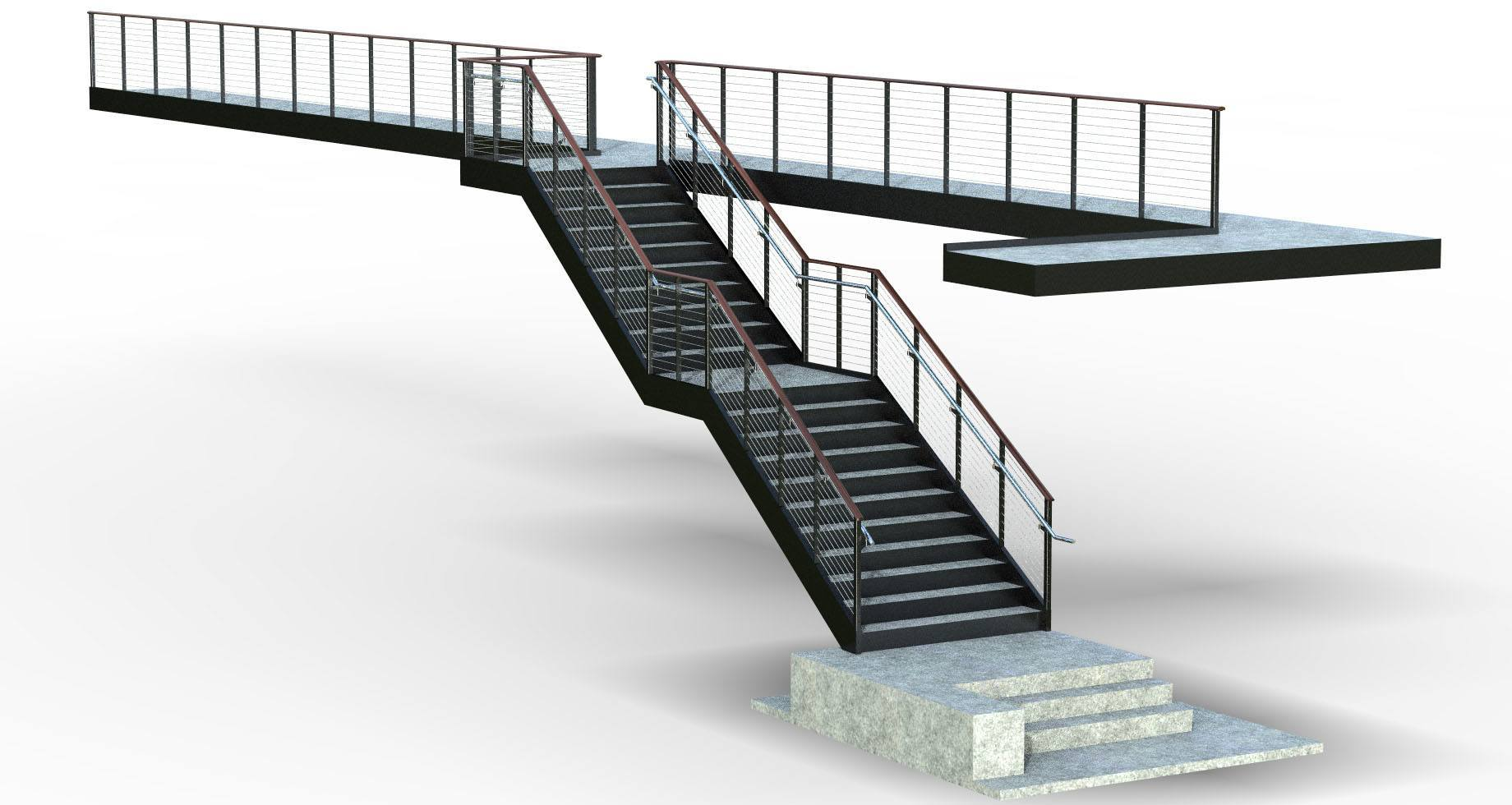 Rendering of Jacksonville University staircase