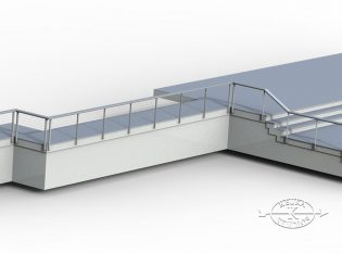 Rendering Of Railing On Deck