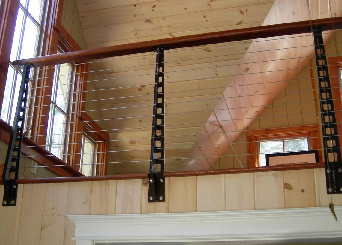 Rustic lodge Railing Close Up