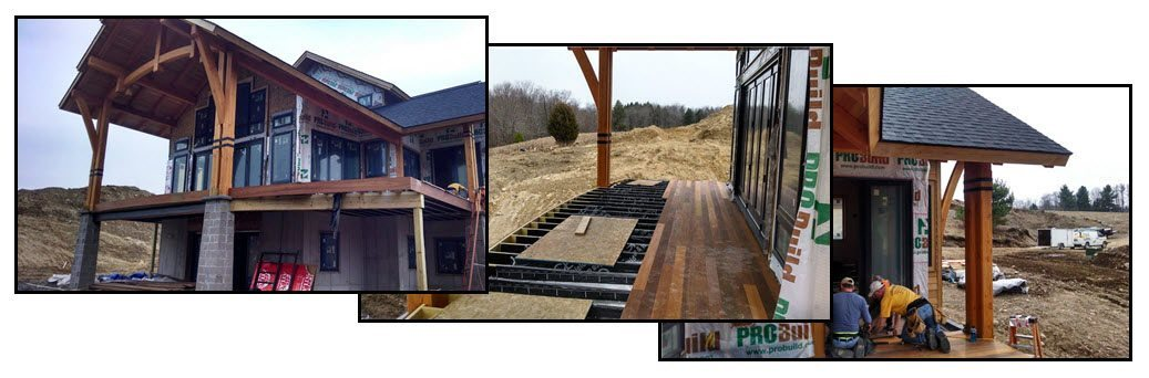 Site Photos of a typical deck project