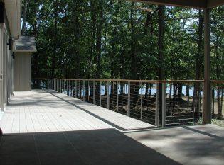Slate and wood deck