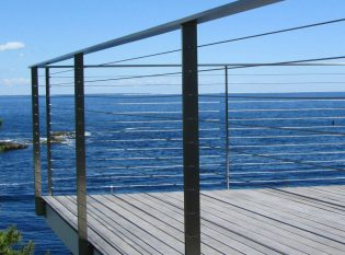 Sleek designed stainless steel railing to optimize the ocean view