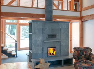 Soapstone fireplace