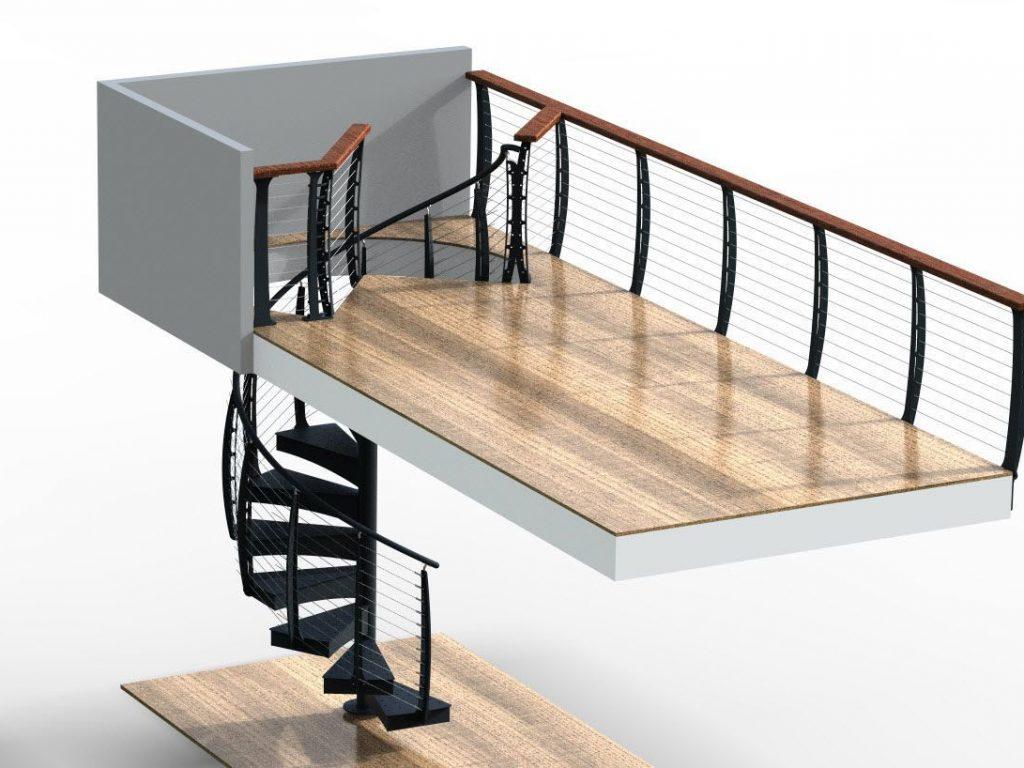 Spiral stair rendering