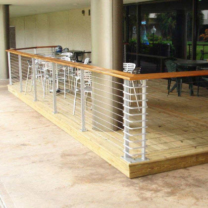 Exterior railing at a college dining area - Tampa FL