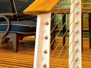 teak railing