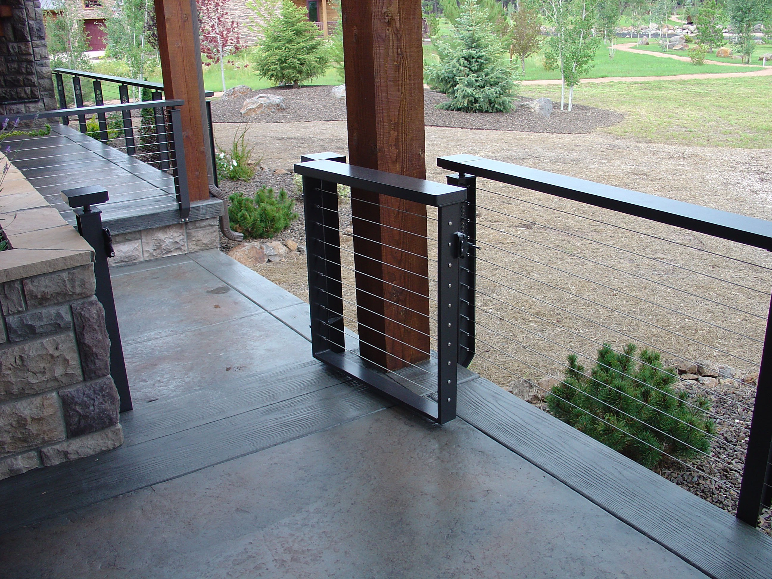 Thick aluminum powder coated handrail