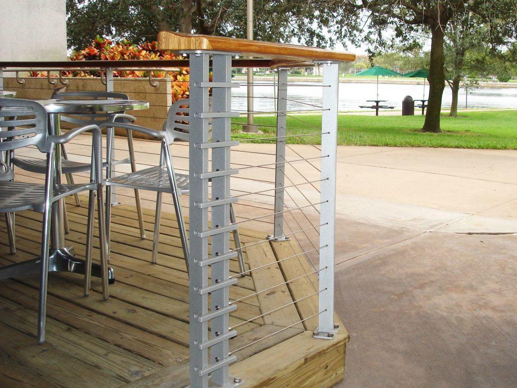 Unique custom milled handrail design