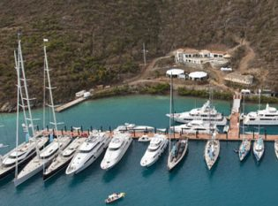 YCCS yachts in the British Virgin Islands.