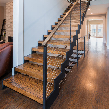 Cable Railings And Stairs   Custom Designs By Keuka Studios