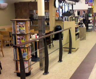 Starbucks railing