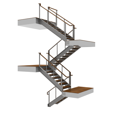 Double Stringer C-Channel Stairs
