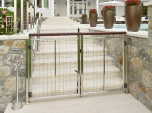 Double Stainless Vertical Cable Railing Gate