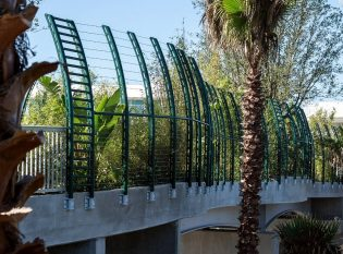 Orlando Pedestrian Bridge Cable Railing Fence
