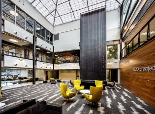 Spacious Lobby With Chicago Cable Railing