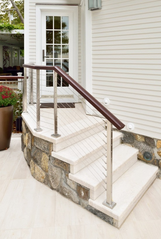 Stone Stair Cable Railing
