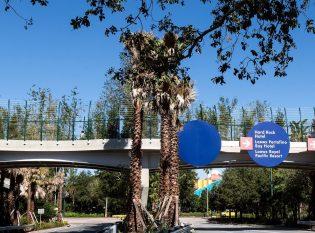 Universal Studios Orlando Flyover Pedestrian Bridge