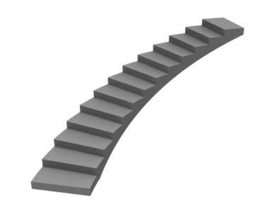 Illustration of a curved staircase