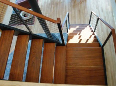 Types of stairs advantages disadvantages for Wood floor 90 degree turn