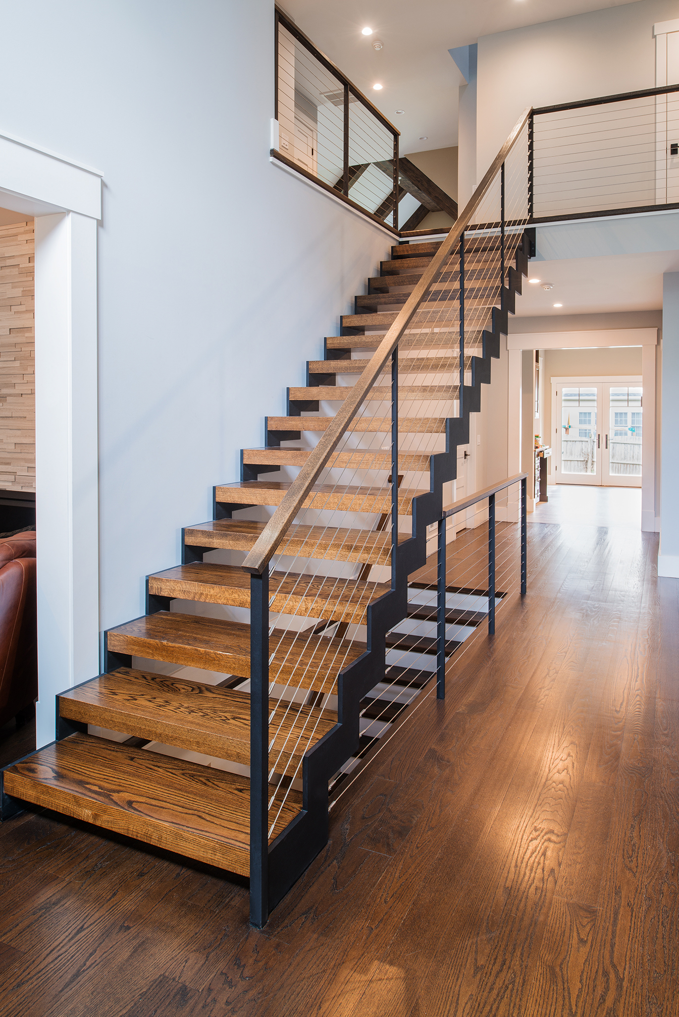 cable railing custom stairs project gallery keuka studios On cable stairs