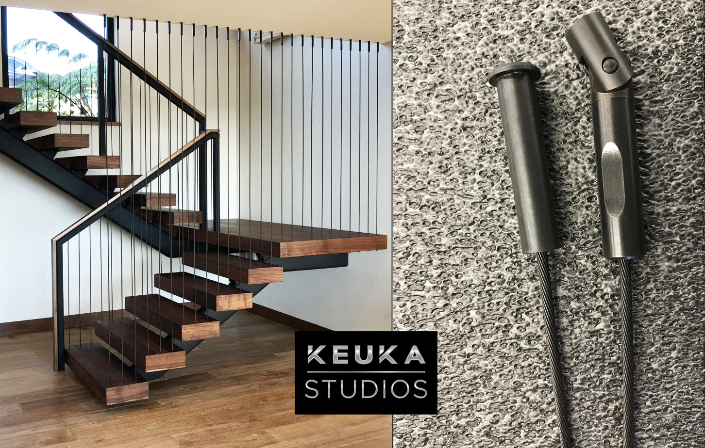 Blackened Stainless Steel Cable Railing