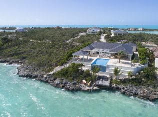 Aerial view of Villa Capri Turks and Caicos Islands