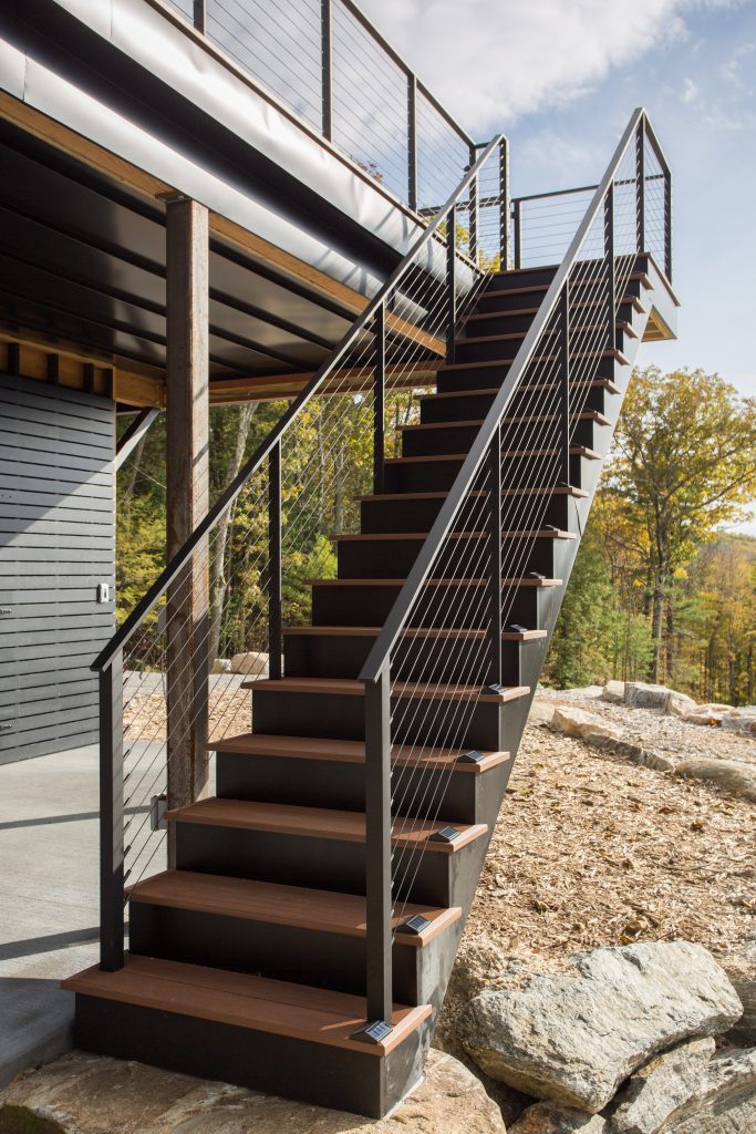 Exterior Deck Staircase with composite decking.