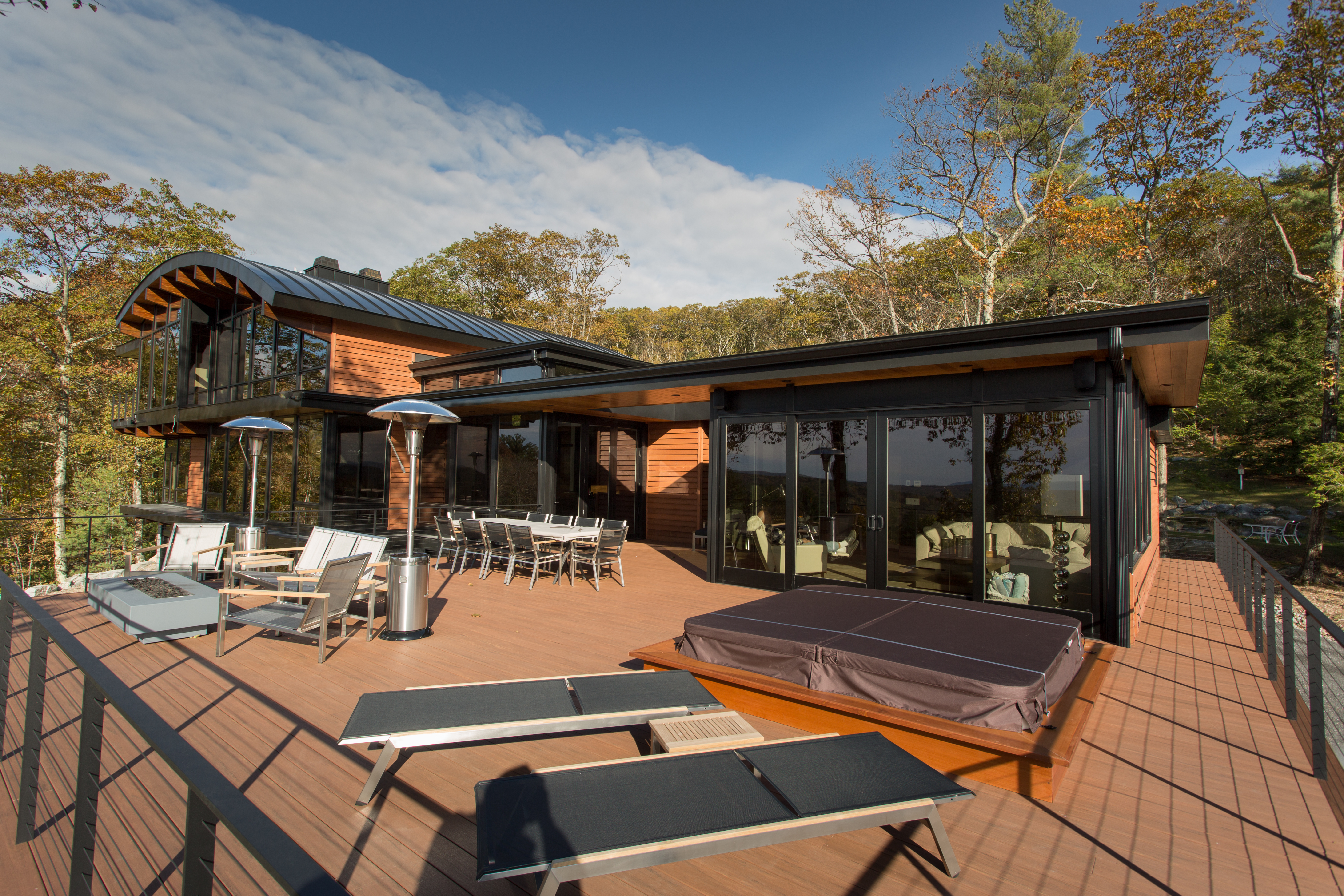 Expansive furnished deck
