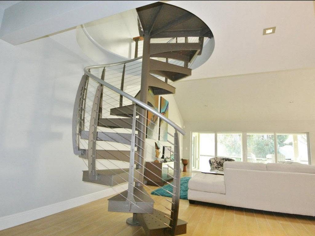 Custom metal staircase
