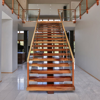 floating glass railing staircase