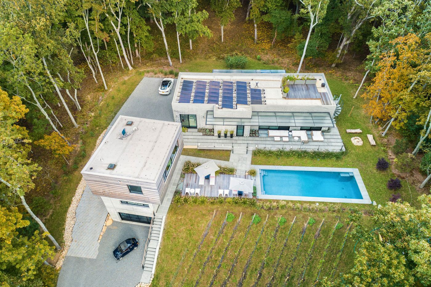 Aerial view of project in Shelter Island, NY