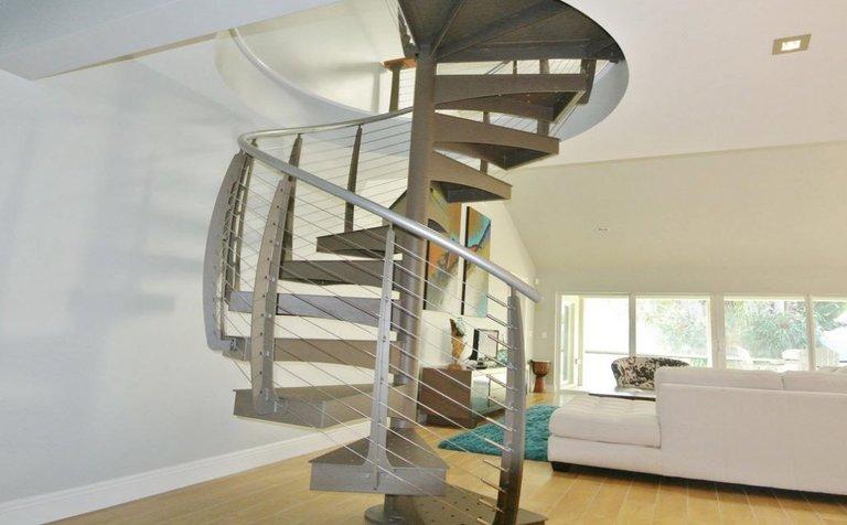 Florida interior spiral staircase.