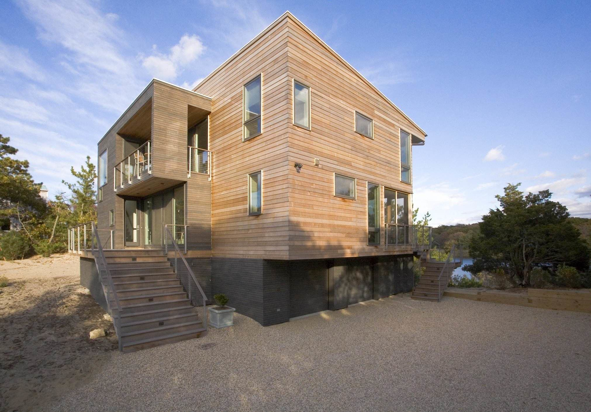 Long Island waterfront home after renovation.