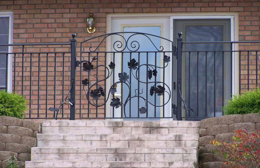 Grape motif iron gate