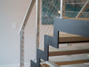 zigzag stringer floating stairs