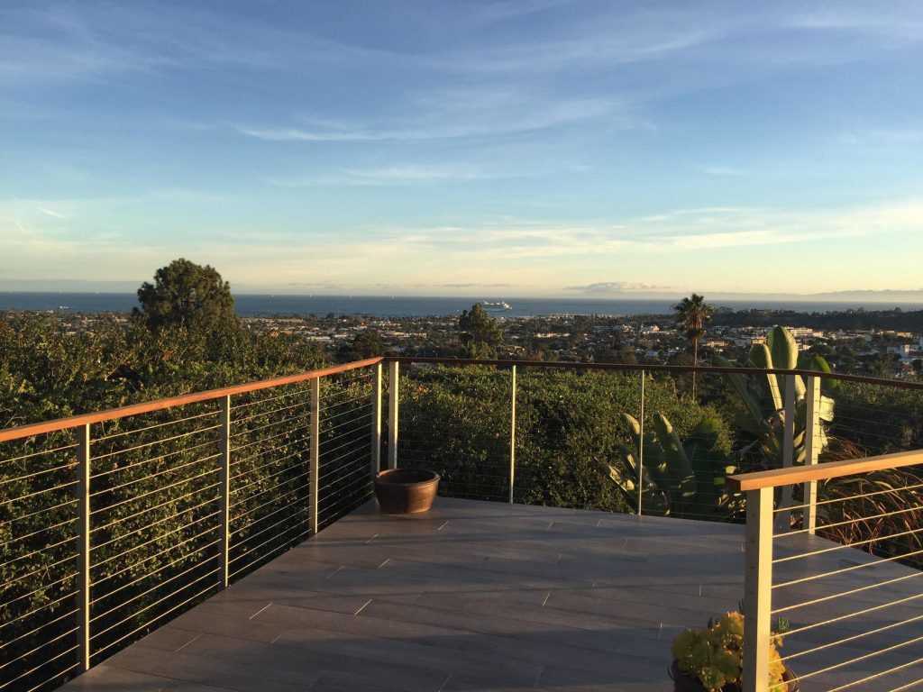 Cable railing for Santa Barbara deck