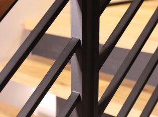 Horizontal bar railing system.