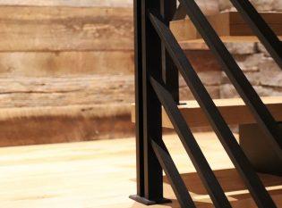 Steel bar railing system.