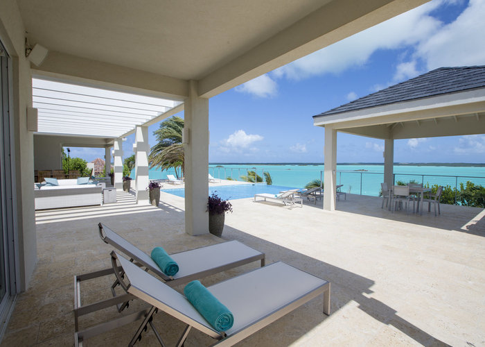 Oceanfront Villa Patio and Pool