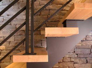 Reclaimed antique white oak stair treads.