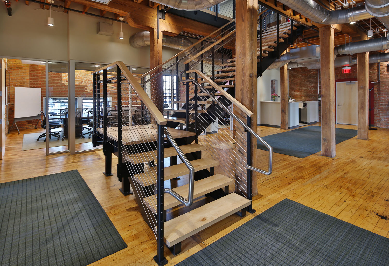 Industrial style cable railing system