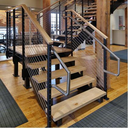 Commercial stair railing at Duke University