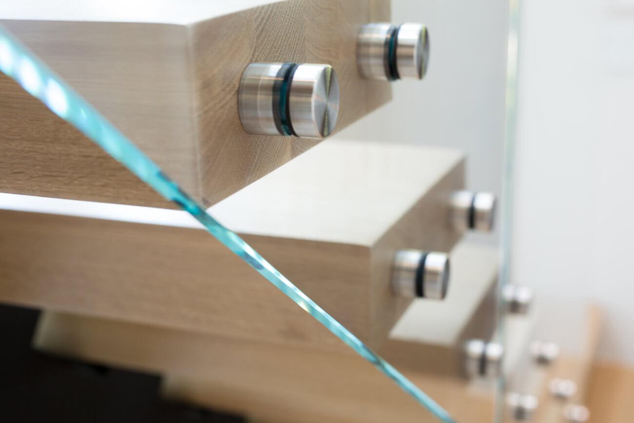 Custom stainless steel glass standoffs