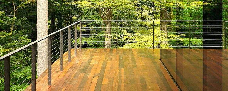 Deck with surface mount railing