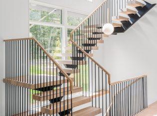 Modern Floating stair pencil rail